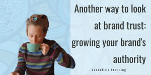 how to grow brand authority - aub drinking coffee