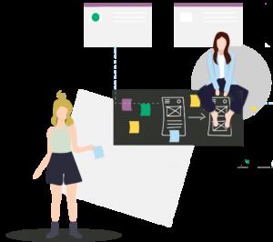 Lady illustrationgs for FDA compliance guide from Dandelion Branding