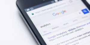 A photo with google analytics for customer behavior metrics