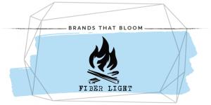 Fiber Light FireStarter Brands that Bloom light blue