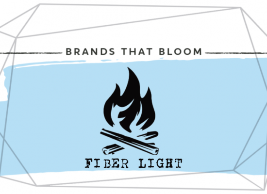 Fiber Light FireStarter Brands that Bloom light blue
