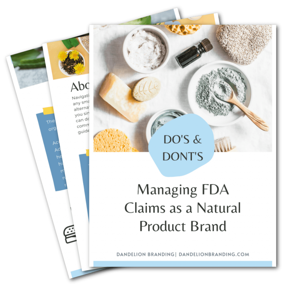 Managing FDA Claims as a Natural Product Brand
